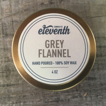 Eleventh Candle Co. Grey Flannel 4 oz Candle Top