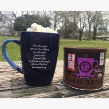 Koinonia Farm Mug Back with Koinonia Fair Trade Cocoa