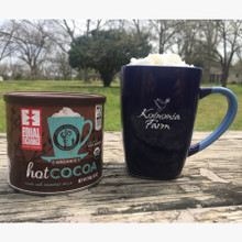 Koinonia Farm Mug Front with Koinonia Fair Trade Cocoa