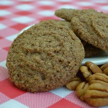 Pecan Butter Cookies Up Close