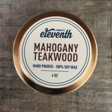 Mahogany Teakwood Candle 4 oz. Top