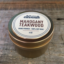 Mahogany Teakwood Candle 4 oz. Side