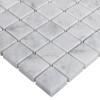 Italian White Carrera Marble Bianco Carrara 1x1 Mosaic Tile Polished