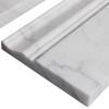 "Italian White Carrera Marble Bianco Carrara 3/4"" Baseboard Molding Honed"