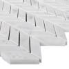 Carrara Marble Italian White Bianco Carrera Mini Chevron Mosaic Tile Polished