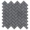 Bardiglio Gray Marble Herringbone Mosaic Tile Polished
