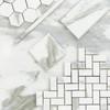 Calacatta Gold Italian Marble 4x12 Wide Bevel Subway Tile Honed