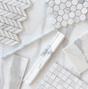 Calacatta Gold Italian Marble 1x1 Mosaic Tile Polished