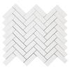 Dolomiti White Marble Italian Bianco Dolomite 1x3 Herringbone Mosaic Tile Polished
