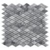 Bardiglio Gray Marble Diamond Mosaic Tile Honed
