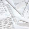 Calacatta Gold Italian Marble Diamond Mosaic Tile Honed