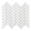 Dolomiti White Marble Italian Bianco Dolomite 1x3 Herringbone Mosaic Tile Honed