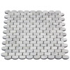 Carrara White Italian Marble Oval Ellipse Mosaic Tile Honed