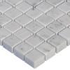 Italian White Carrera Marble Bianco Carrara 5/8x5/8 Mosaic Tile Honed