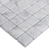 Italian White Carrera Marble Bianco Carrara 1x1 Mosaic Tile Honed