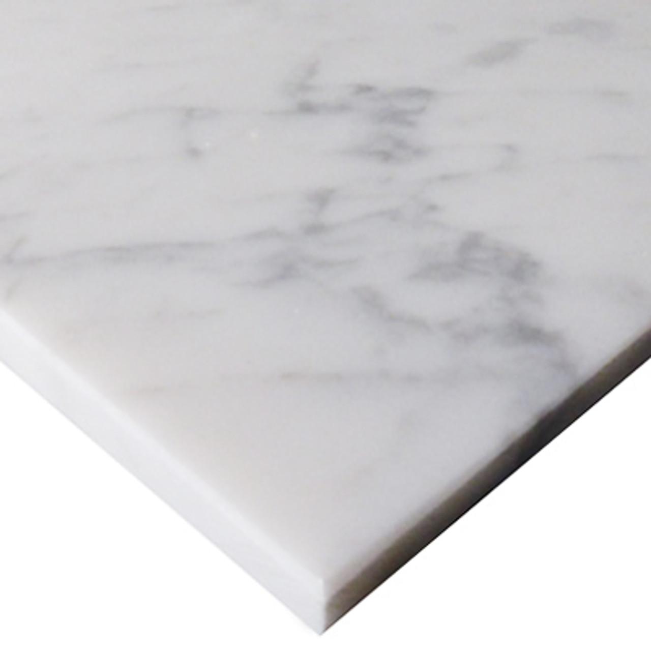 4 X 12 Carrara Marble Subway Tile Polished