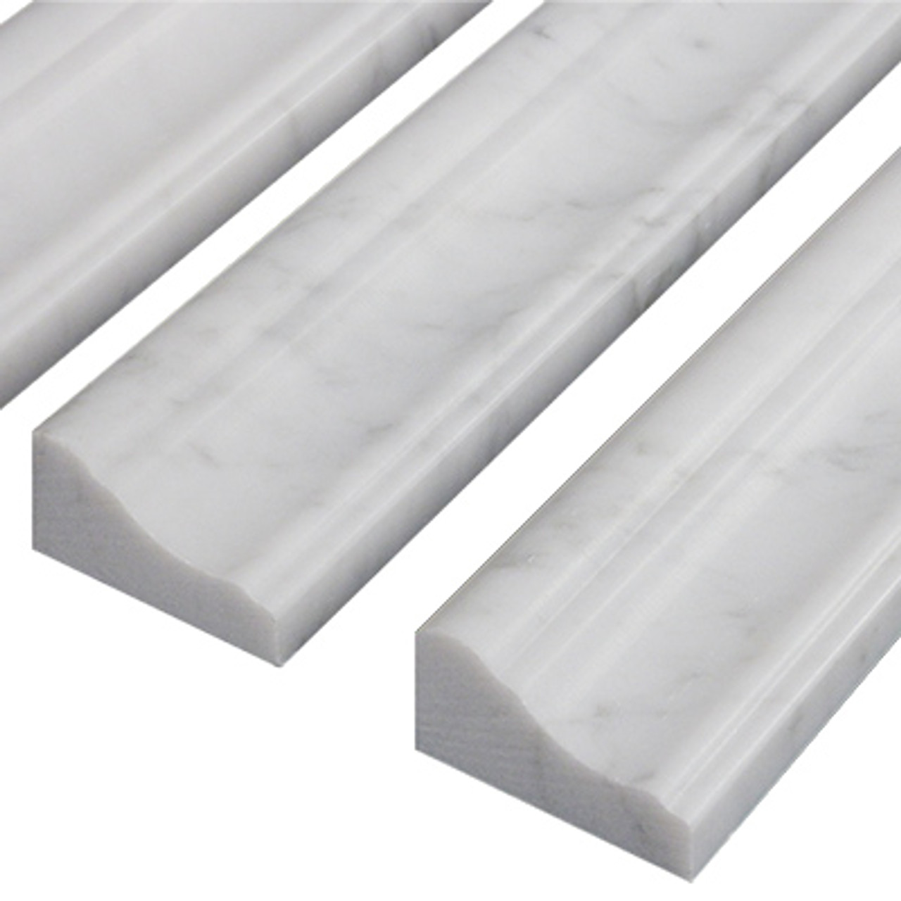 Carrara White Marble Crown Molding Honed