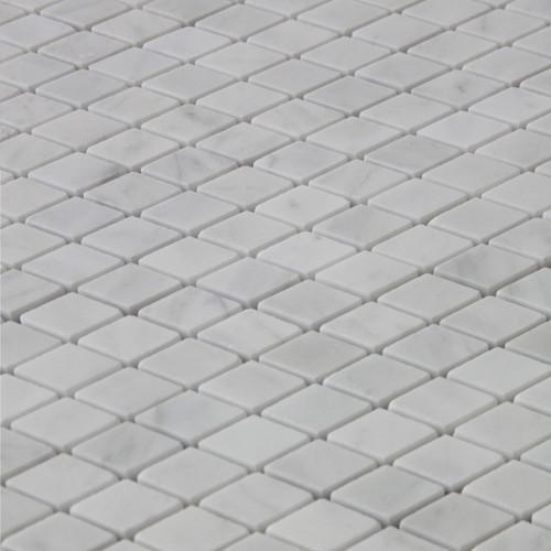 Carrara White Italian Marble Diamond Mosaic Tile Polished