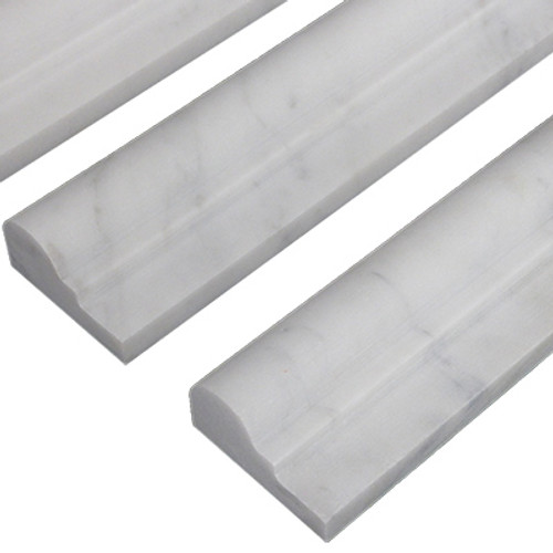 Italian White Carrera Marble Bianco Carrara Ogee 1 Chairrail Molding Polished