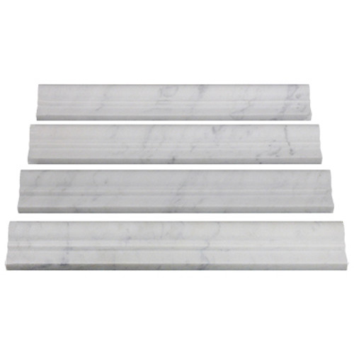 Italian White Carrera Marble Bianco Carrara Ogee 1 Chairrail Molding Honed