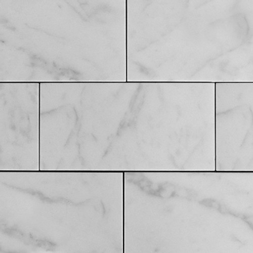 3x6 Carrara Marble Subway Tile Honed