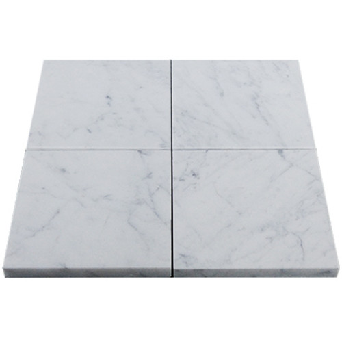 Italian White Carrera Marble Bianco Carrara 6x6 Marble Tile Honed
