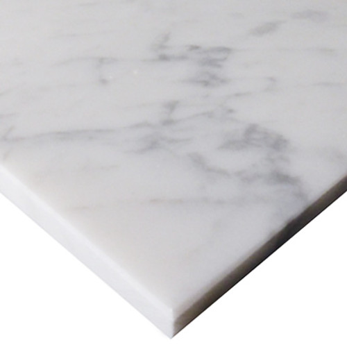 Italian White Carrera Marble Bianco Carrara 18x18 Marble Tile Polished