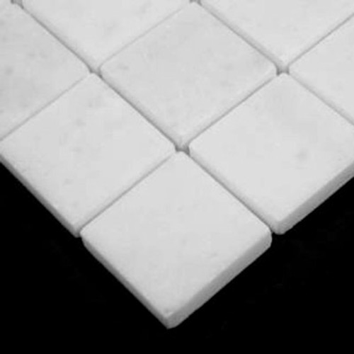 Statuary Crystal Marble Italian White Statuario  2x2 Mosaic Tile Polished