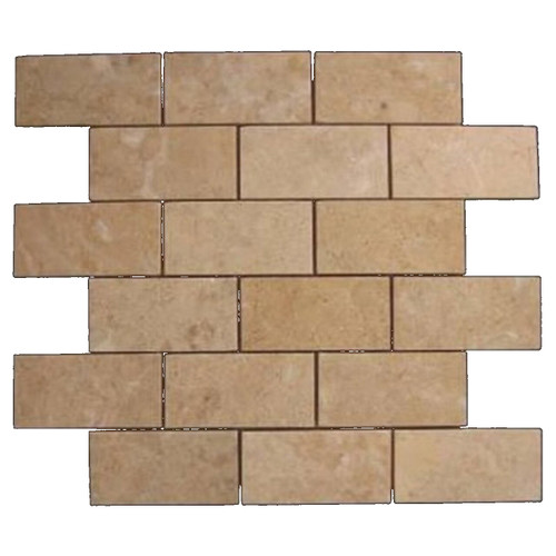 Crema Marfil Marble 2x4 Mosaic Tile Polished