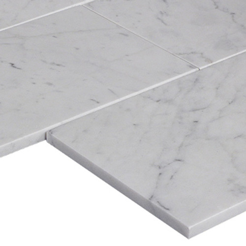 Italian White Carrera Marble Bianco Carrara 12x24 Marble Tile Polished