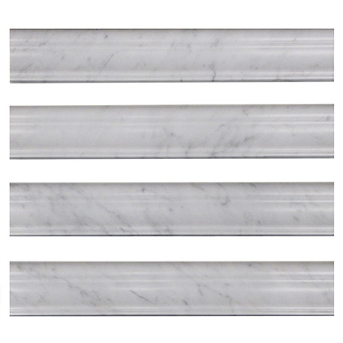 Italian Carrara White Marble Crown Molding Honed