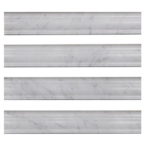 Italian White Carrera Marble Bianco Carrara Crown Molding Honed