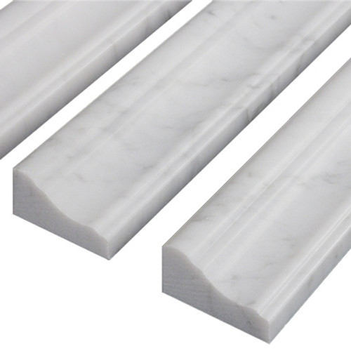 Italian White Carrera Marble Bianco Carrara Crown Molding Honed