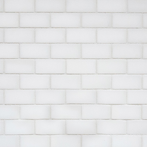 Bianco Dolomite Mini Brick Mosaic Tile Polished