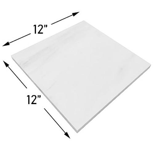 12x12 Bianco Dolomite Marble Tile Polished