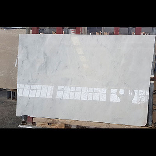 "Italian Carrara White Marble 3/4"" Thickness Slab Polished"
