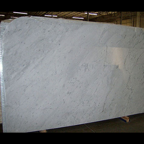 "Carrara White Italian Marble 3/4"" Thickness Slab Polished"