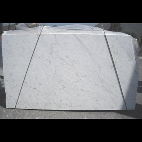 "Carrara White Italian Marble 1 1/4"" Thickness Slab Polished"