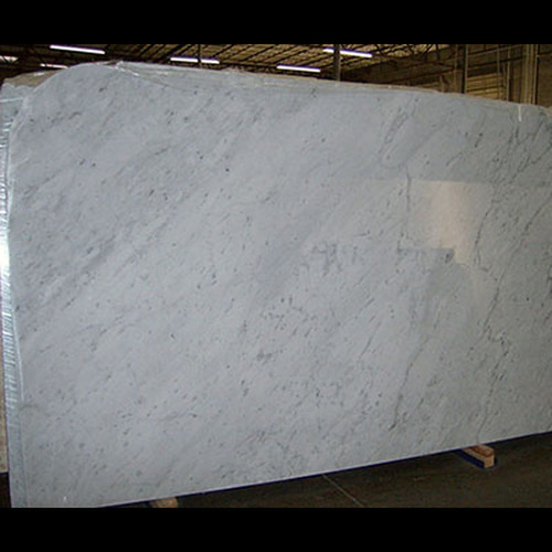 "White Carrera Marble Italian Bianco Carrara 1 1/4"" Marble Slab Honed"