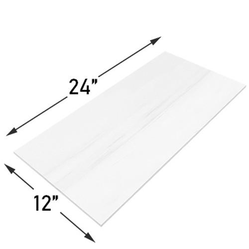 12x24 Bianco Dolomite Marble Tile Polished