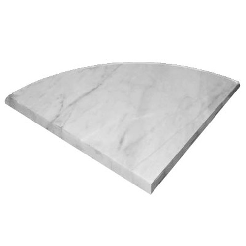 Italian White Carrera Marble Bianco Carrara Corner Shelf Honed