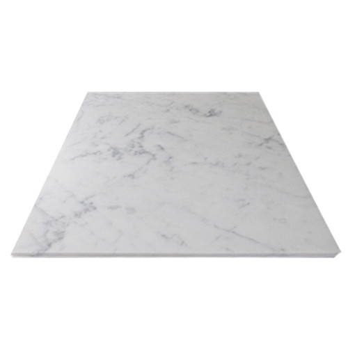 Italian White Carrera Marble Bianco Carrara 16x16 Marble Tile Polished