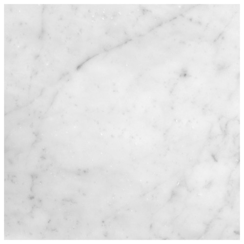 Italian White Carrera Marble Bianco Carrara 16x16 Marble Tile Honed