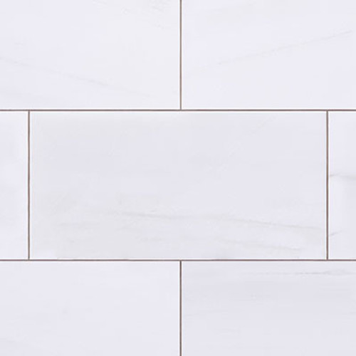 6x12 Bianco Dolomiti Marble Subway Tile Polished
