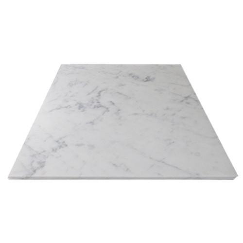 Italian White Carrera Marble Bianco Carrara 36x36 Marble Tile Polished
