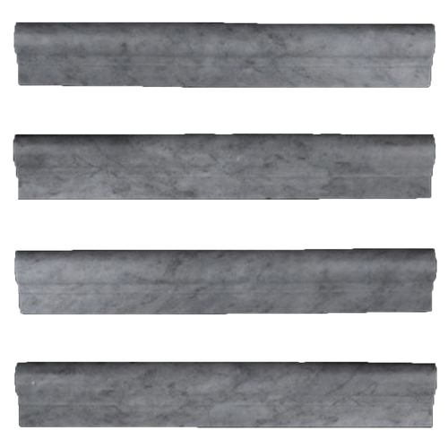 Bardiglio Gray Marble Ogee 1 Chairrail Molding Polished