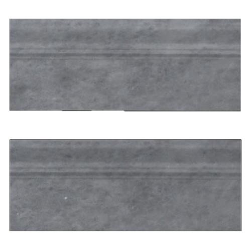 "Bardiglio Gray Marble 3/4"" Baseboard Molding Polished"