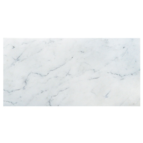 Italian White Carrera Marble Bianco Carrara 18x36 Marble Tile Honed