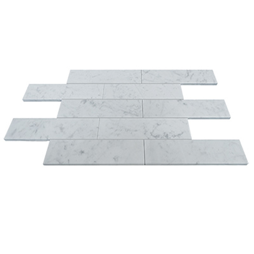 "Carrara White Italian Marble 6"" x 18"" Tile Polished"