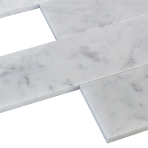 Carrara Marble Italian White Bianco Carrera 3x12 Marble Tile Honed
